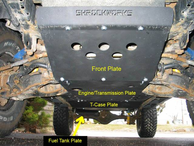 Toyota Tacoma 4x4 Accessories 4x4 Parts - Xterra Engine Transmission Skid Plate ARSWG1XTENGTR - Your ...
