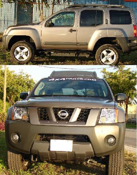 4x4 Parts Complete Xterra 2 Inch Body Lift Blacx2bl Your 1