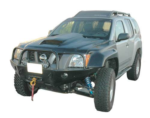 4x4 Parts Xterra Fiberglass 2 Pin Hood With Scoop