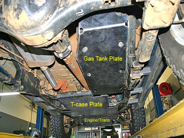 4x4 Parts Xterra Transfer Case Skid Plate Swapg1xtcase