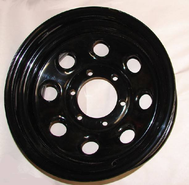 "4x4 Parts - 15"" x 8"" Black Steel Wheels WTKP15X8 - Your #1 Source for Nissan Aftermarket Parts!"