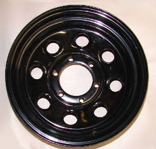 4x4 Parts 15 Quot X 8 Quot Black Steel Wheels Wtkp15x8 Your 1
