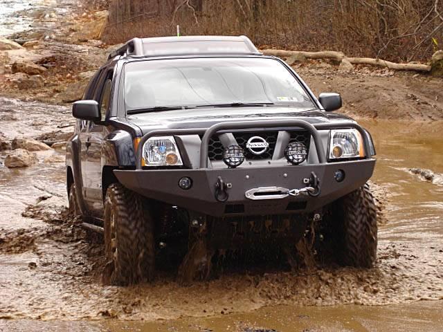 4x4 Parts - Xterra Front Winch Mount Bumper APSW05XTWMBB ...