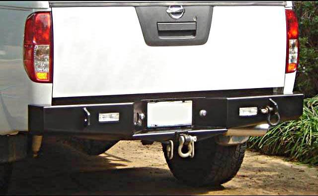 4x4 Parts - Frontier Rear Bumper with Receiver Hitch ...