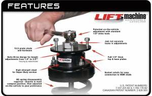 Jeep 4 Inch Lift >> ADJUSTABLE FRONT LIFT LEVELING KIT