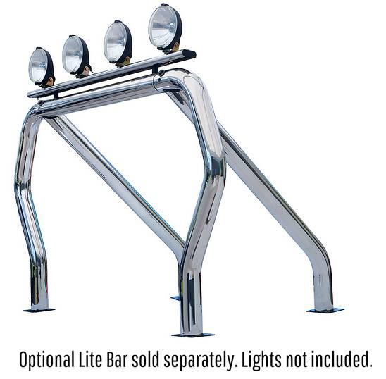 Chrome Single Bar Single Kicker Bed Bars