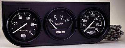 Black Three-Gauge Oil Pressure / Voltmeter / Water Temperature F