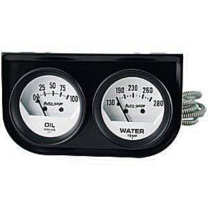 Two-Gauge Oil Pressure / Water Temperature