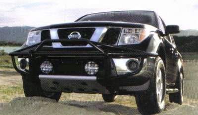 Frontier Pre-Runner Front Bumper in Stainless Steel