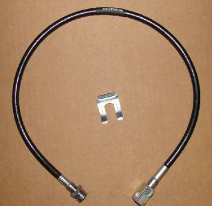 27 Inch Long Black Rear Brake Line