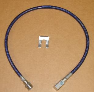 27 Inch Long Blue Rear Brake Line