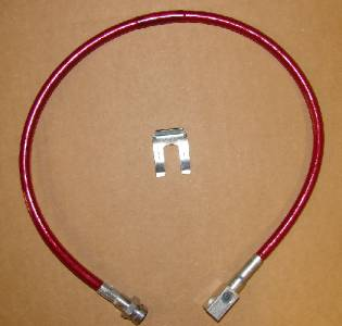 27 Inch Long Red Rear Brake Line