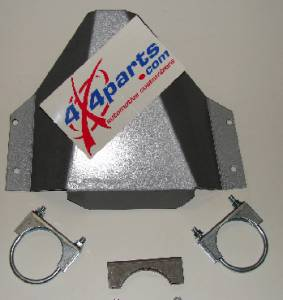 Frontier Rear Differential Skid Plate in Silver