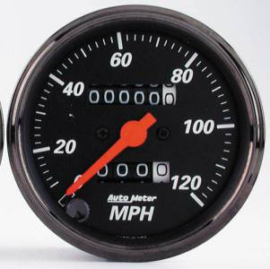 "3-1/8"" 120 MPH Mechanical Speedometer w/Red Pointer"