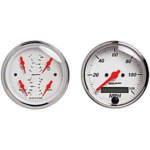 "3-3/8"" Quad Gauge Kit With Electric Speedometer"