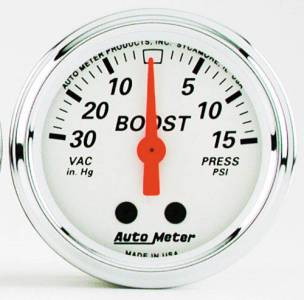 Boost/Vac Mech. Gauge with Red Pointer 30 In. Hg.-Vac/15 PSI