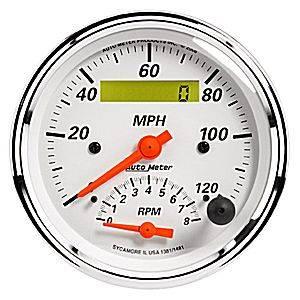"""3 3/8"""" Programmable Tachometer/ Speedometer Combo"""
