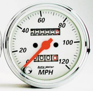 """3-1/8"""" 120 MPH Mechanical Speedometer with Red Pointer"""
