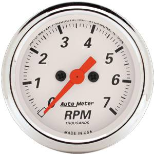 7,000 RPM Electric Tachometer with Red Pointer