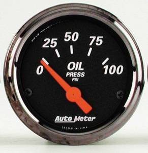 Oil Pressure Gauge with Red Pointer 0-100 PSI