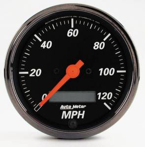 """3-1/8"""" 120 MPH Electric Programmable Speedometer with Red Point"""