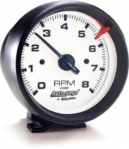 8,000 RPM Black Tachometer