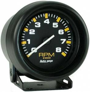 8,000 RPM Black Mini Tachometer