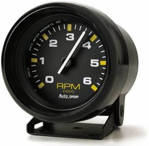 6,000 RPM Black Mini Tachometer