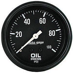 0-100 PSI Mechanical Oil Pressure Gauge