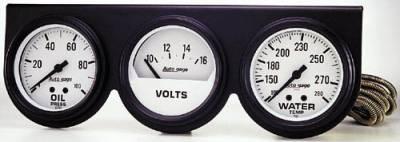 Black Three-Gauge Oil Pressure / Voltmeter / Water Temperature F