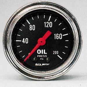 Oil Pressure 0-200 PSI
