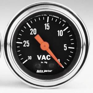 Vacuum 30 In. Hg.