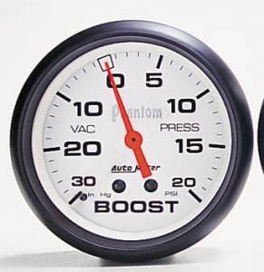 Boost 30 in Hg.-Vac./15 PSI w/Peak