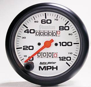 "3-3/8"" 120 MPH In-Dash Mechanical Speedometer"