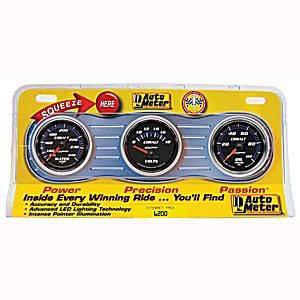 Three-Gauge Water Temperature, Voltmeter, and Oil Pressure