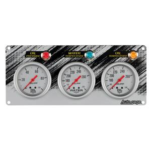 Race Panel Oil Pressure Water Temperature and Oil Temperature