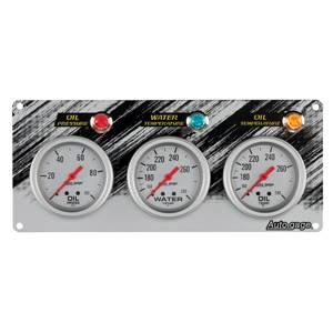 Race Panel Oil Pressure Water Temperature and Oil Temperature