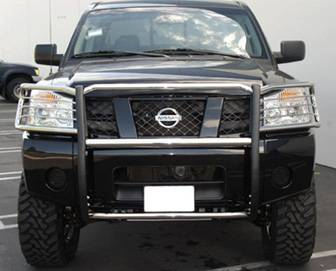 Armada Black Grille/Brush Guard
