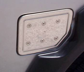 Stainless Steel Fuel Door Lid
