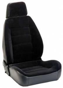 Sport Seat Black Vinyl & Black Cloth