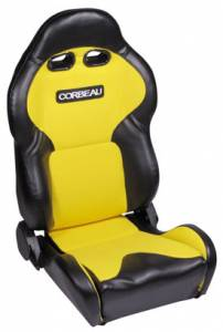 VX2000 Black Vinyl With Yellow Cloth Seat