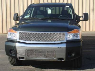 Upper Class Polished Stainless Mesh Grille