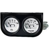 Autogage - Auto Meter Auto Gage Two Gauges Three Gauges and Race Panels - Two-Gauge Oil Pressure / Water Temperature