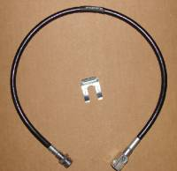 Stainless Steel Brake Lines - Pathfinder - 27 Inch Long Black Rear Brake Line