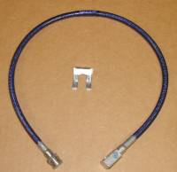 Stainless Steel Brake Lines - Pathfinder - 27 Inch Long Blue Rear Brake Line