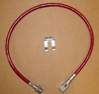 Stainless Steel Brake Lines - Pathfinder - 27 Inch Long Red Rear Brake Line