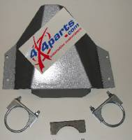 4x4parts Skid Plates - Xterra - Xterra Rear Differential Skid Plate in Silver