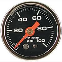 "Autogage - Auto Meter Auto Gage Individual Gauges - 0-100 PSI Fuel Pressure Gauge 1-1/2"""