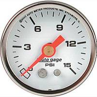 Autogage - Auto Meter Auto Gage Fuel Level and Pressure Gauges - Fuel Pressure Gauge 1-1/2""