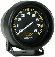 Mini Gauges & Consoles - Auto Meter AutoGage Individual Gauges - 8,000 RPM Black Mini Tachometer